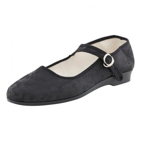 Bársonycipő brokát fekete 40