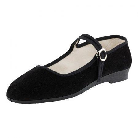 Bársonycipő fekete 35