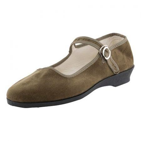 Bársonycipő zöld 40