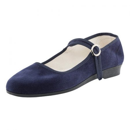 Bársonycipő kék 37