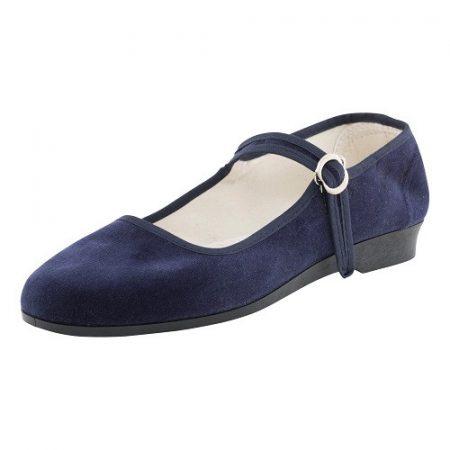 Bársonycipő kék 40