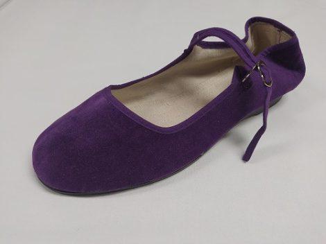 Bársonycipő lila 42