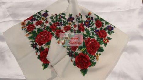 fejkendő rózsás fehér
