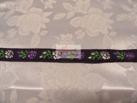 Szalag - hímzett 16mm lila