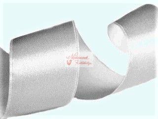 Szalag - szatén 15 mm ezüst