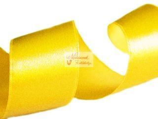 Szalag - szatén 15 mm sárga