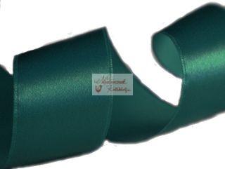 Szalag - szatén 15 mm sötétzöld
