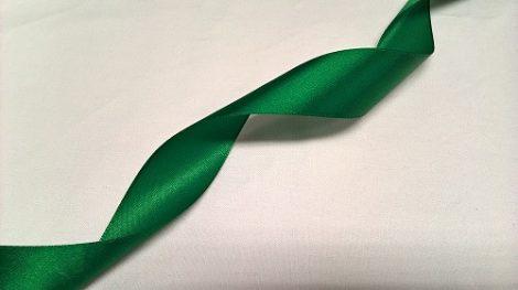 Szalag - szatén 20 mm zöld