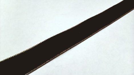 Szalag - bársony 16 mm barna