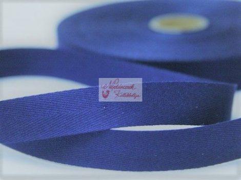 Szalag - köper 20 mm kék