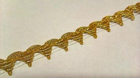 Szalag - díszítő 20 mm arany csúcsos