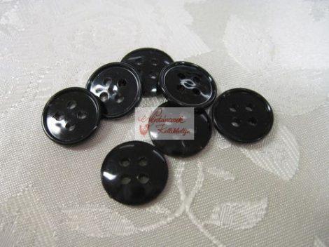 Gomb műanyag 20 mm fekete