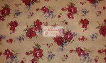 Pamutvászon bézs virágos 004
