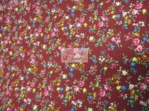 Pamutvászon bordó virágos 012