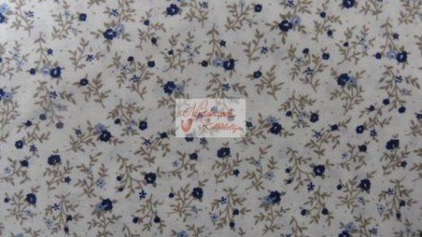 Pamutvászon bézs virágos 021