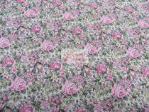 Pamutvászon bézs virágos 022