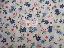 Pamutvászon fehér virágos 031