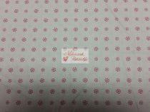 Pamutvászon fehér virágos 041