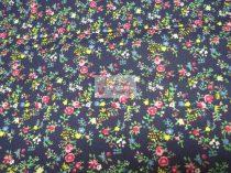 Pamutvászon kék virágos 065