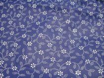 Pamutvászon kék virágos 070