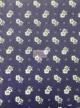 Pamutvászon kék virágos 078