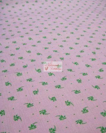 Pamutvászon lila virágos 085