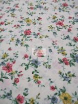 Pamutvászon bézs virágos 094