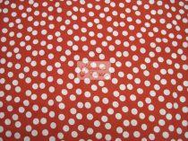 Pamutvászon piros pöttyös 097