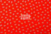 Pamutvászon piros virágos 102
