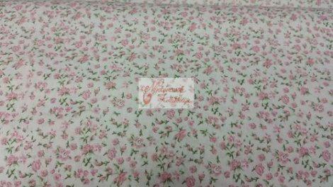 Pamutvászon fehér virágos 146