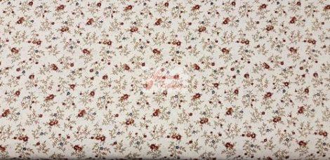 Pamutvászon bézs virágos barna 148