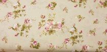 Pamutvászon bézs virágos 149