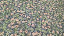Pamutvászon kék virágos 169