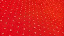 Pamutvászon piros virágos 175