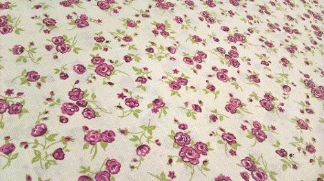 Pamutvászon bézs virágos 181