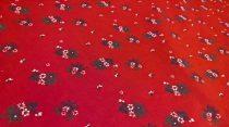 Pamutvászon piros virágos 184