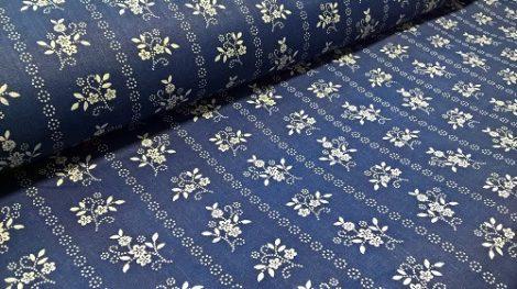 Pamutvászon kék virágos 192