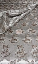 Selyem-brokát 2514 ezüst-barna