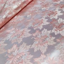 Selyem-brokát 2514 ezüst-rózsaszín r-112