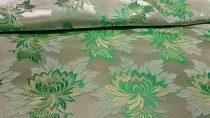 Selyem-brokát 2514 ezüst-zöld-v.zöld r-156