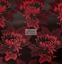 Selyem-brokát 2514 fekete-piros 353