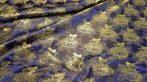 Selyem-brokát 2514 kék-arany 375