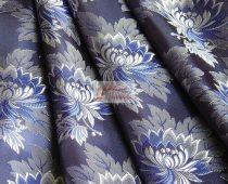 Selyem-brokát 2514 kék-fehér 325