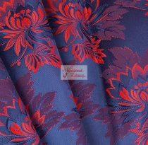 Selyem-brokát 2514 kék-piros 735