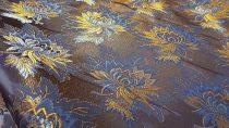 Selyem-brokát 2514 kék-színes 45