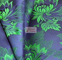 Selyem-brokát 2514 kék-zöld 745