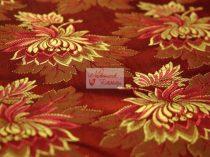 Selyem-brokát 2514 piros-arany 253