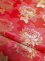 Selyem-brokát 2514 piros-sárga