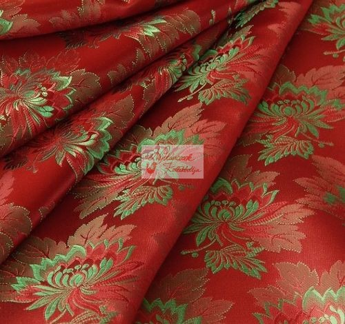 Selyem-brokát 2514 piros-zöld 593 - Néptáncosok Kellékboltja 67fa7ddb70
