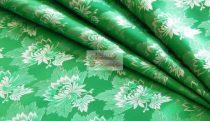 Selyem-brokát 2514 zöld-fehér 756